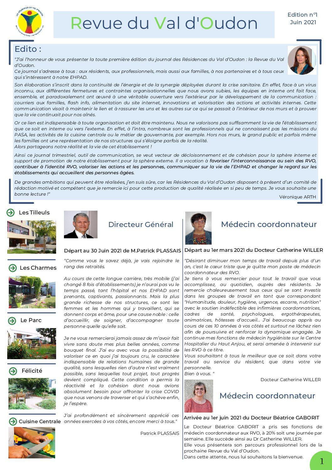 Revue du Val d'Oudon – Edition n° 1 – JUIN 2021